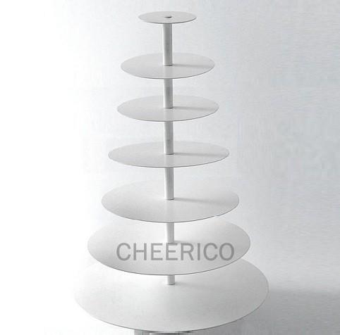 7 Tier White Round Cupcake Stand
