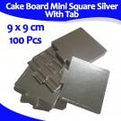Mini Square Sliver With Tab Cake Board 9 Cm 100units