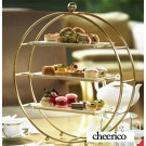 3 Tier Iron Cupcake Stand Gold Metal Round Tiered Dessert Display Holder Wedding