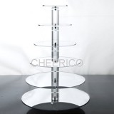 6 Tier Mirrored Effects Round Maypole Cupcake Stand